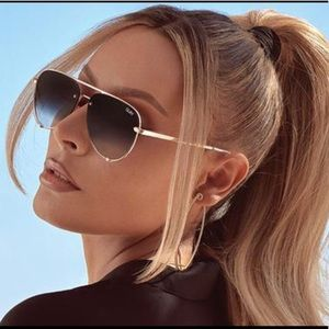Quay xDesiPerkins High Key Mini Rimless Sunglasses